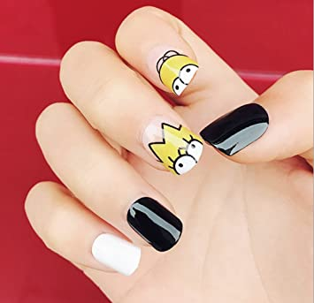Ivrest Cute False Nails, Fake Nails, False Nails, Simpsons Family, Kawaii  Cute Style, Cartoon