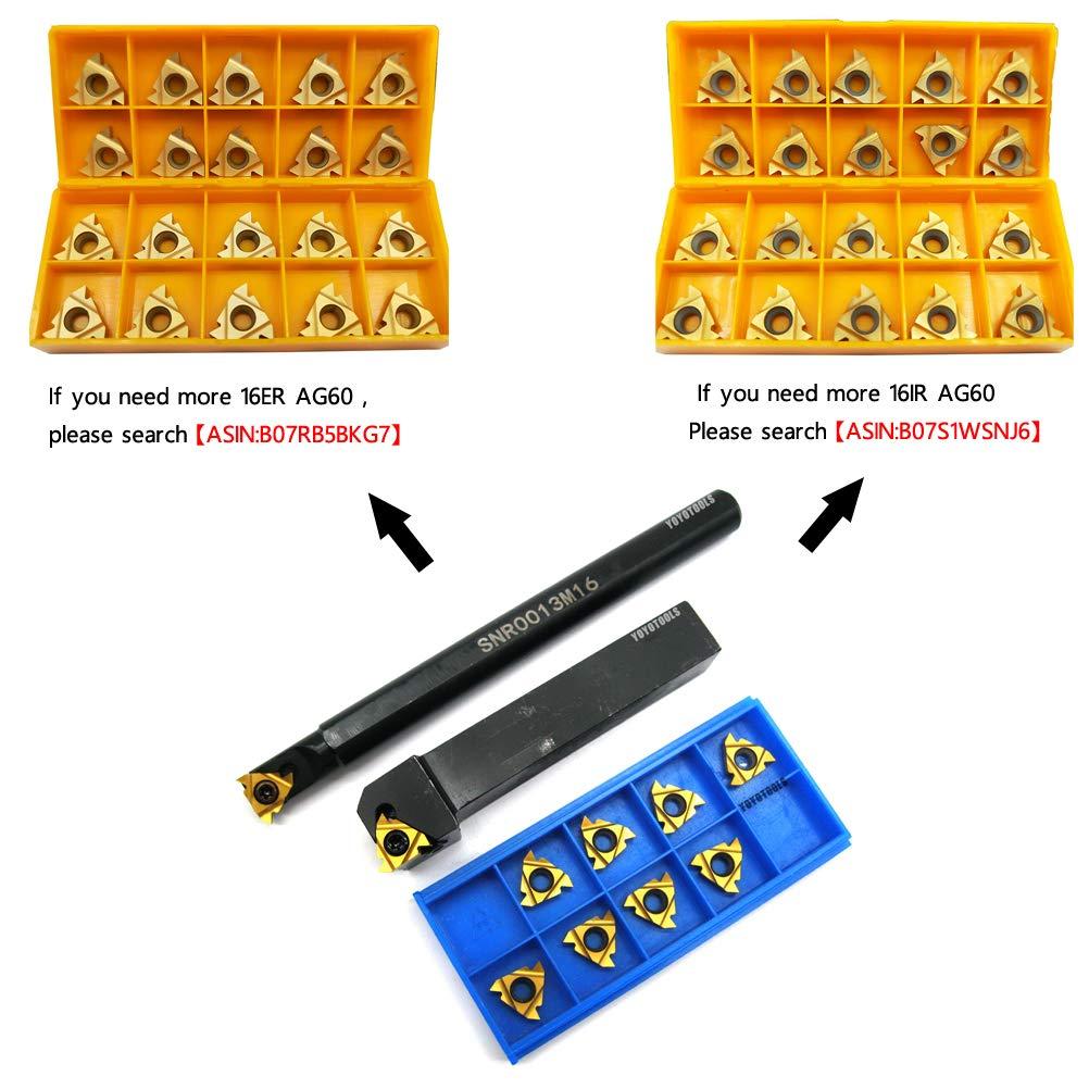 10pcs 16ER AG60 Carbide Internal Thread Inserts BU SER1616H16 Turning Holder