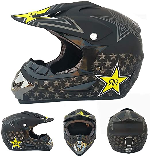 Casco Cruzado, Casco De Moto Unisex De Carreras Off-Road Casco De ...