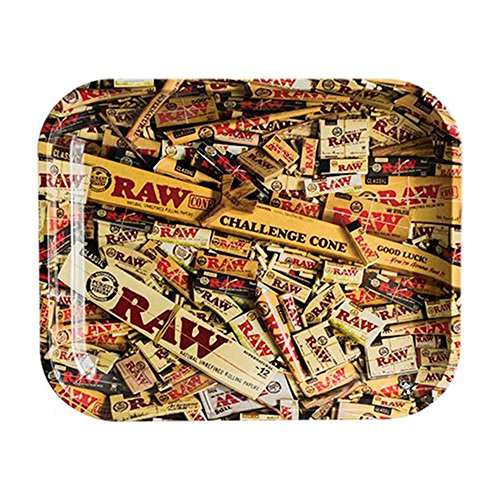 RAW Mixed Items Metal Rolling Tray (Small 11''x7'') by Raw