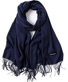 Freesiom Echarpe Unisexe Homme Femme Hiver Chaude Longue Couleur Uni Frange  Châle Foulard Tour Cache Cou Mode… c36601a92d6