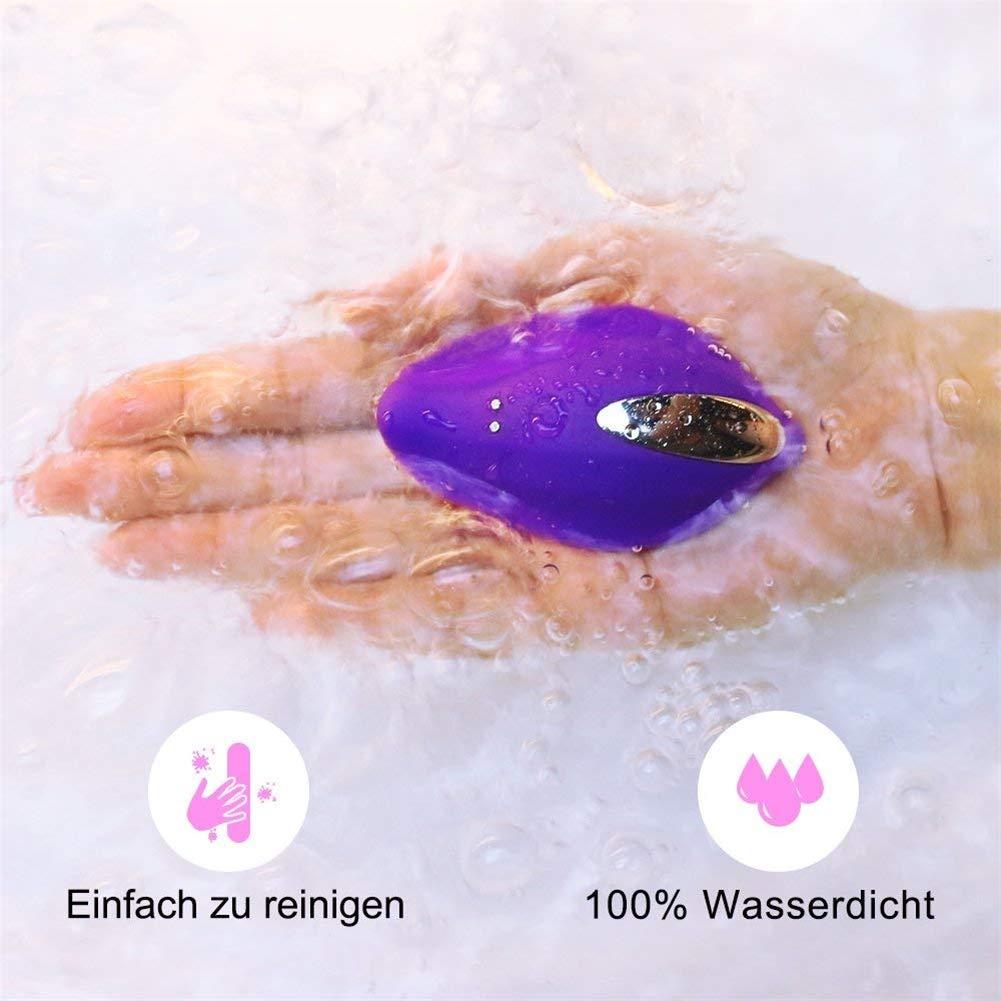 Santchcz Vibratore Portatile Vibrante per la Sua Sua Sua stimolazione clitoridea con Telecomando, Piccolo stimolatore clitorideo Vibratore clitoride Panty Pleasure (Viola) 18ae0d