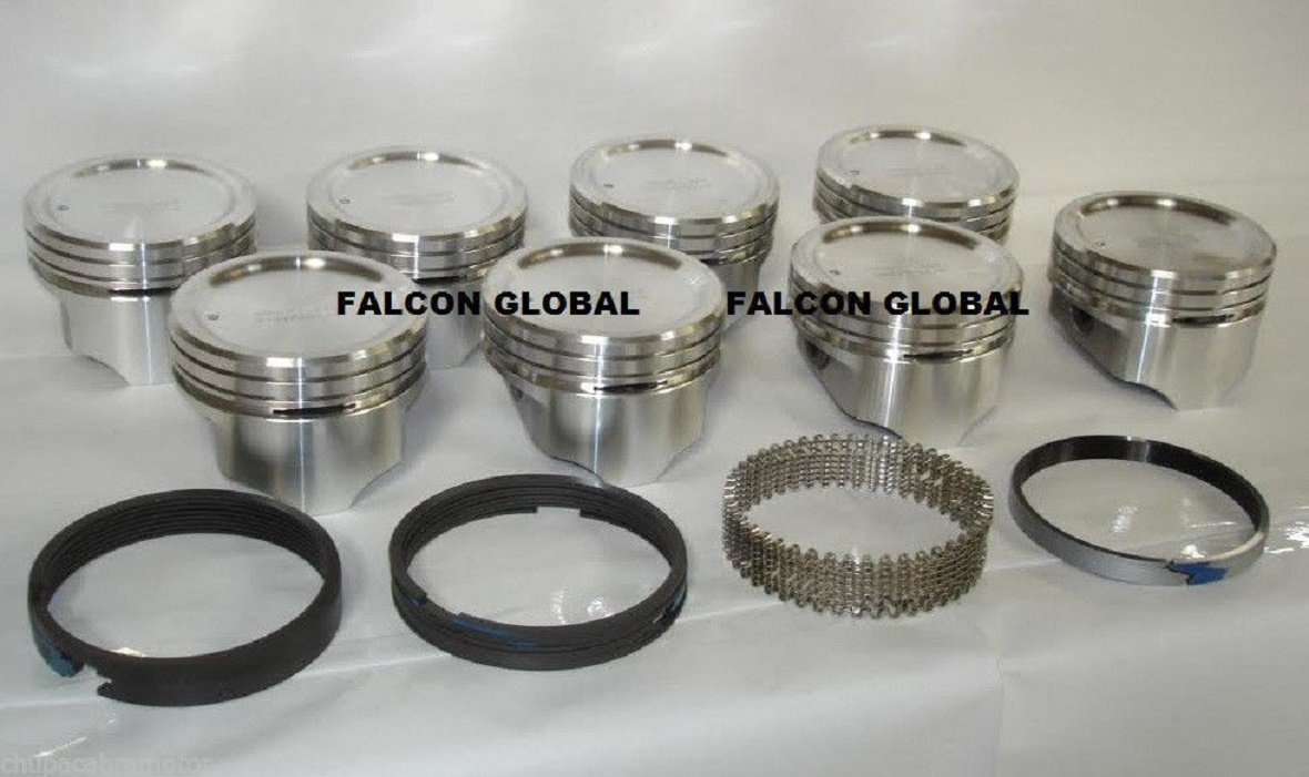 Amazon com: (8)Cast Pistons and Ring Combo for Small Block Chevy 400