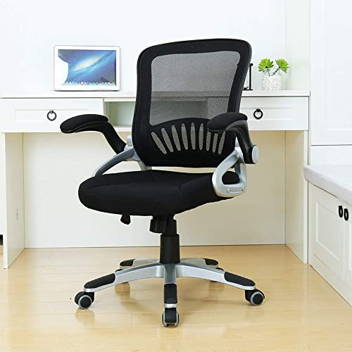 BERLMAN Ergonomic Mid Back Mesh Office Chair with Adjustable Armrest Desk Chair Computer Chair