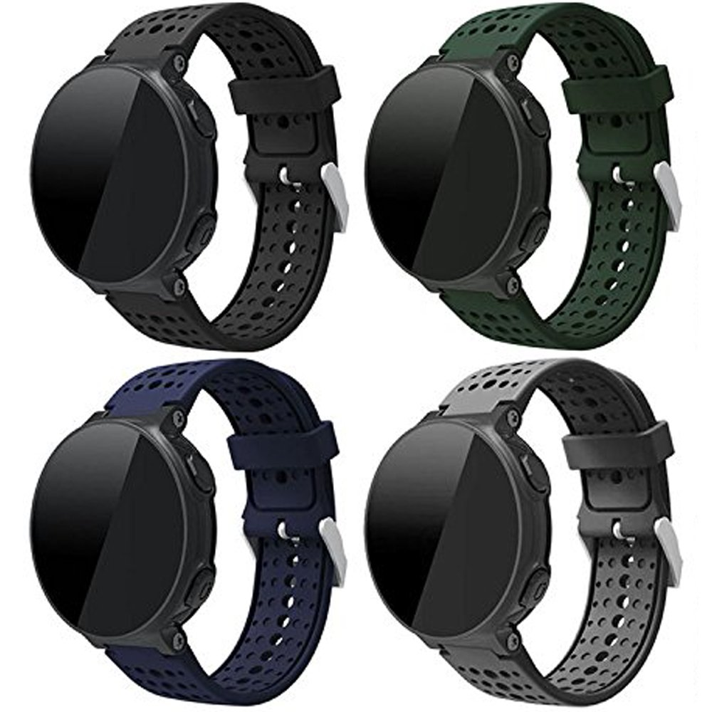 Soft Silicone Replacement Watch Band For Garmin Forerunner 235/220 / 230/620 / 630/735 Smart Watch (No Tracker, Replacement Bands Only)