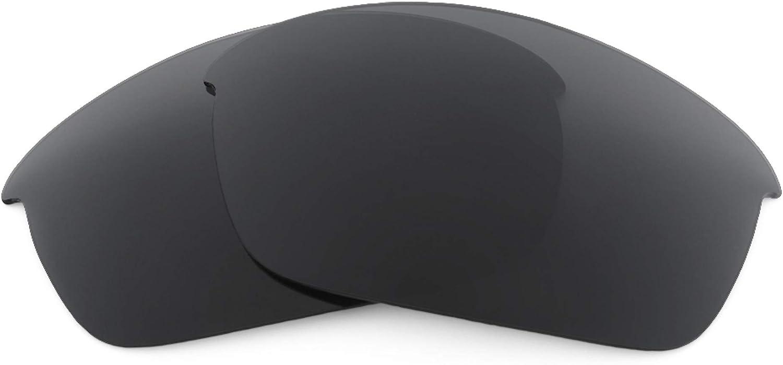 Revant Verres de Rechange pour Oakley Flak Jacket (Coupe Asiatique) Noir Furtif - Polarisés Elite