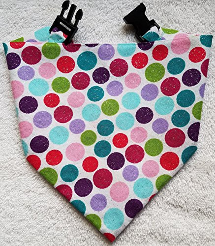 Buckle Dog Bandana Multi Color Polka Dots (Dot Buckle)