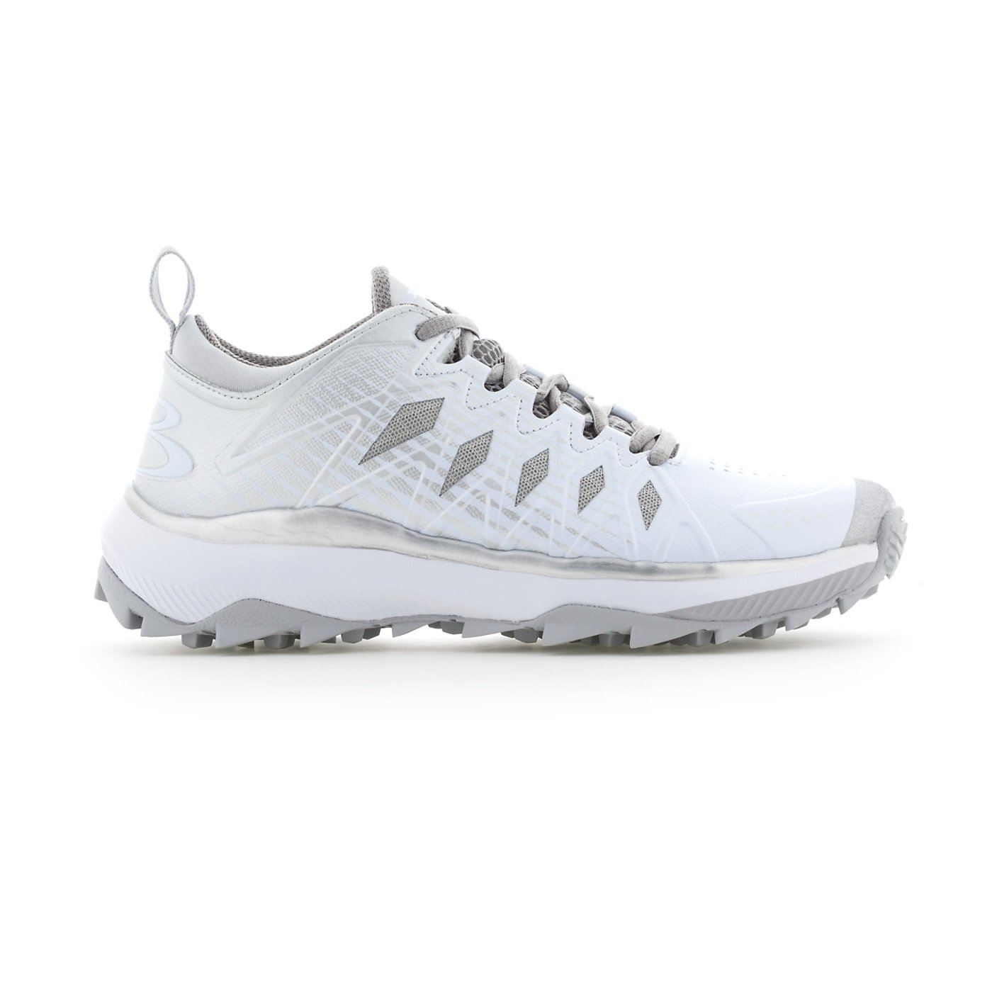 Boombah Women's Squadron Turf Shoes - 14 Color Options - Multiple Sizes B079K5W6D9 8|Silver/White