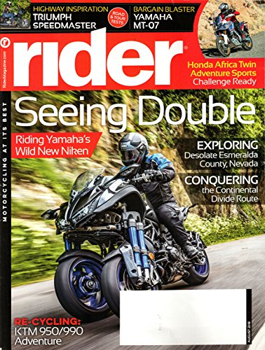 Rider Magazine August 2018 | Seeing Double - Yamaha Niken