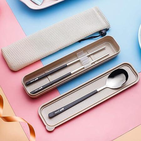 Caja para cubiertos Caja de almacenamiento de tenedor portátil de tres piezas, G: Amazon.es: Hogar