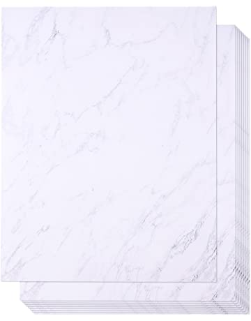 2173eb6abcb5 48 Pack Marble Stationery Paper - Letterhead - Decorative Design Paper -  Double Sided - Printer