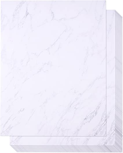 Amazon.com: 48 Pack Mármol Stationery Paper – Letterhead ...