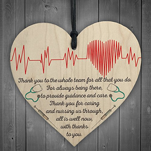 RED-OCEAN-All-Is-Well-Now-Doctors-Nurses-Thank-You-Wooden-Heart-Plaque-Hospital-Gift