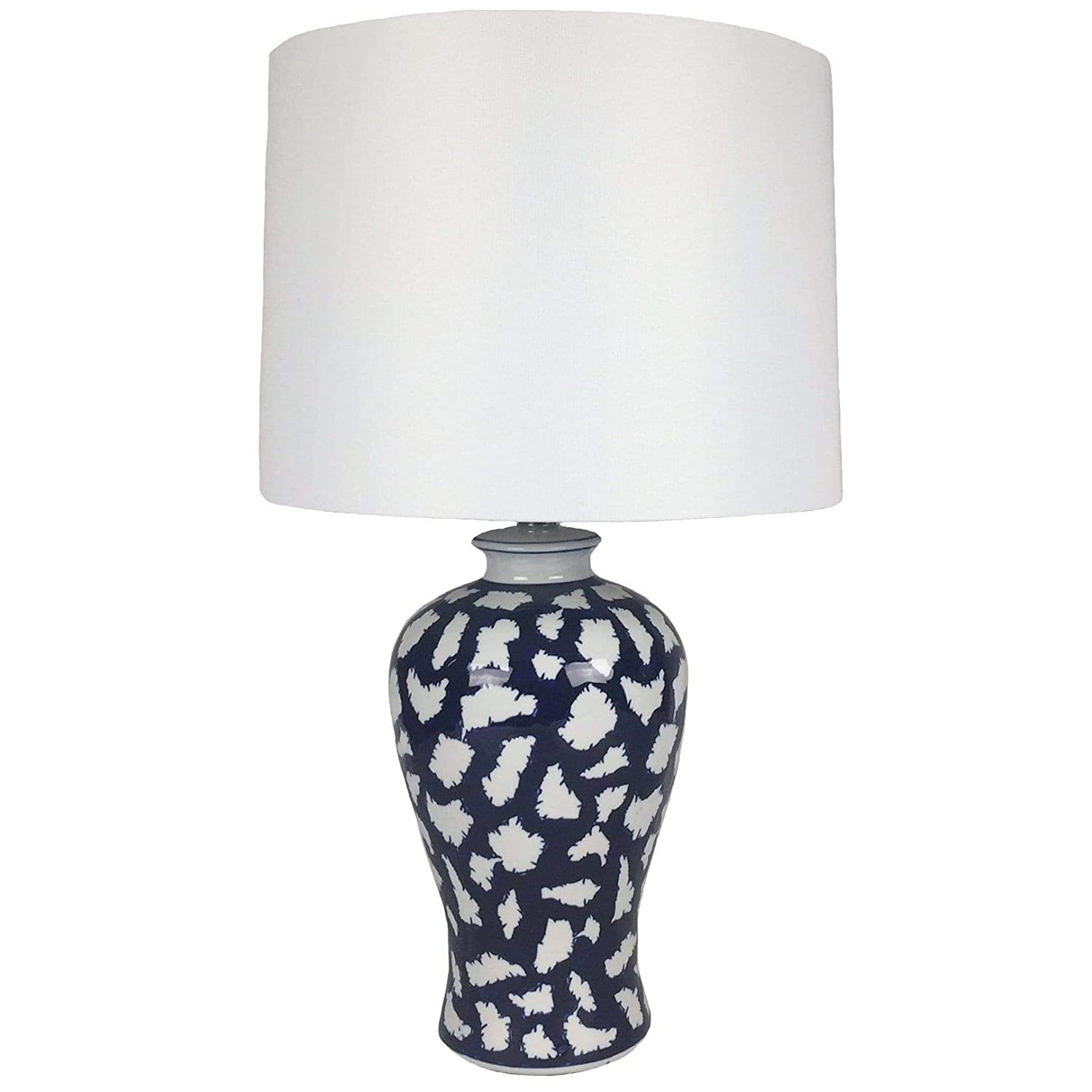 Jt Lighting Cally Set Of 2 Blue And White Ceramic Lamps 24 Inch