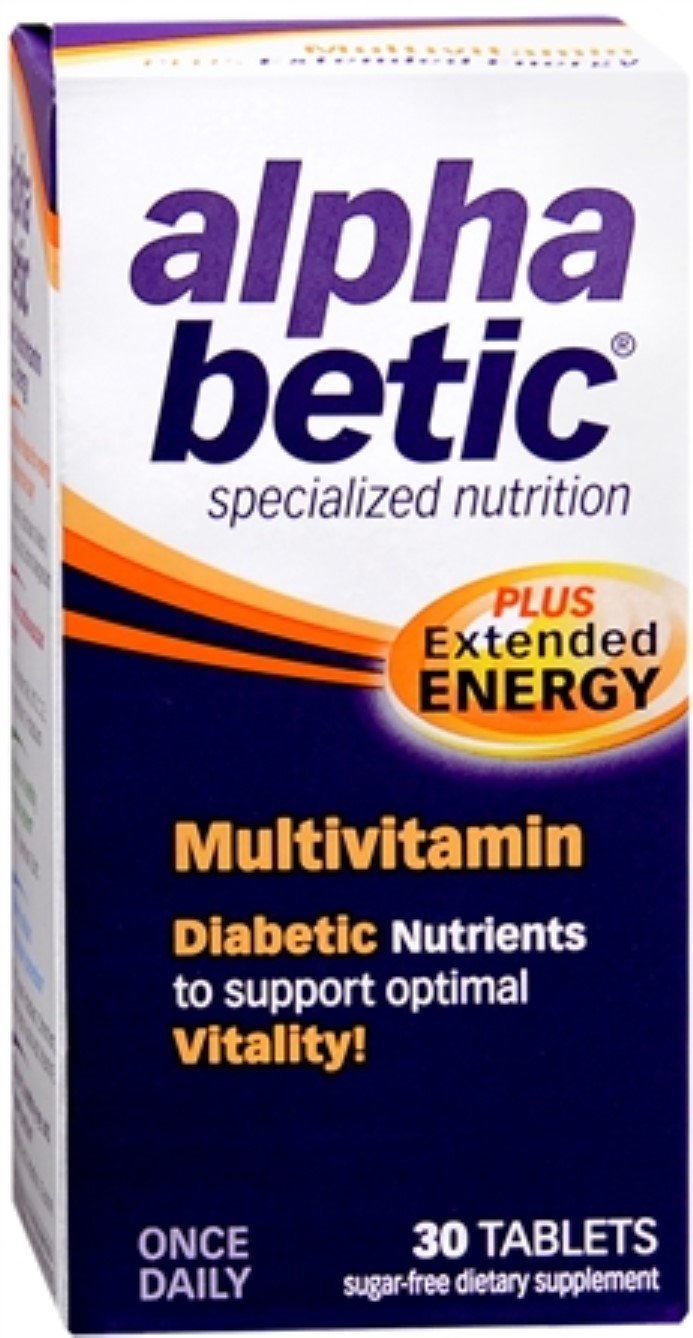 alpha betic Multi-Vitamin Caplets 30 Caplets (Pack of 12) by Alpha Betic (Image #1)
