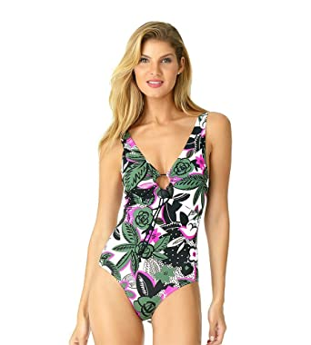 e17d0b89686 Anne Cole Women's Keyhole Plunge One Piece Swimsuit at Amazon Women's  Clothing store: