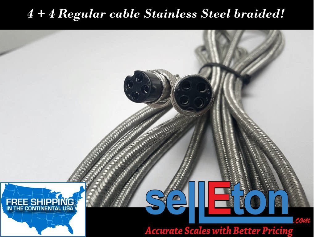 Selleton 4 + 4 Regular Stainless Steel Braided Cable/ Connects To Indicator And Scale