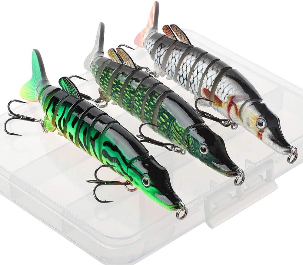 señuelos de pesca de lucio articulados