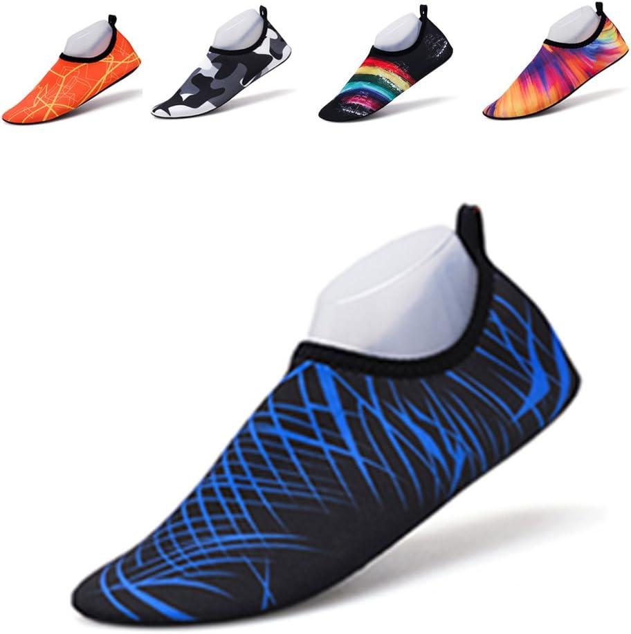 Water Shoes Mens Womens Hiking Shoes Quick-Dry Aqua Socks Beach Swim Shoes for Surf Yoga Water Aerobics (XL, Blue)