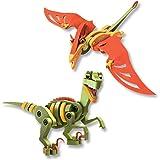 Bloco Toys inc. Velociraptor and Pterosaur