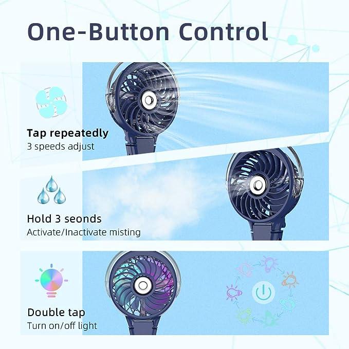 HandFan Ventilador Personal Recargable Ventilador eléctrico ...