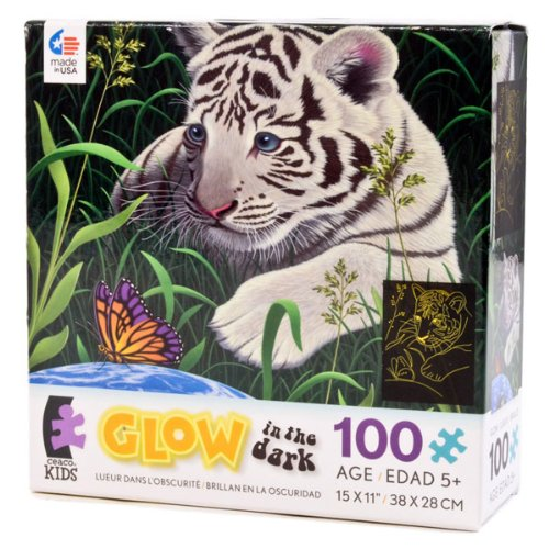 Ceaco Inc 01619 100 Piece Glow In The Dark Puzzle Assorted Designs - Assorted Kids Floor Puzzles