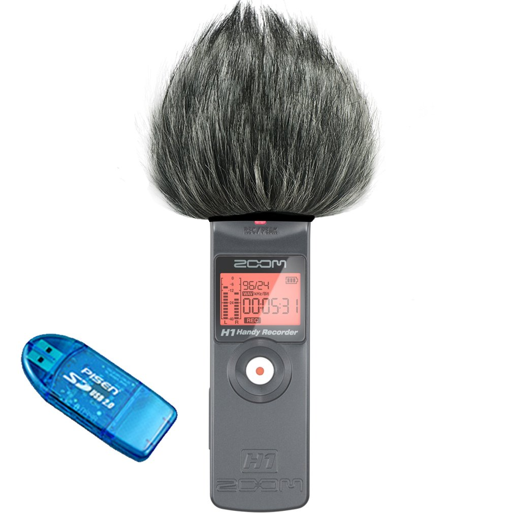 First2savvv TM-H6-D01 Outdoor Portable Digital Recorders Furry Microphone Mic Windscreen Wind Muff for Zoom H6 Recorder SD card reader