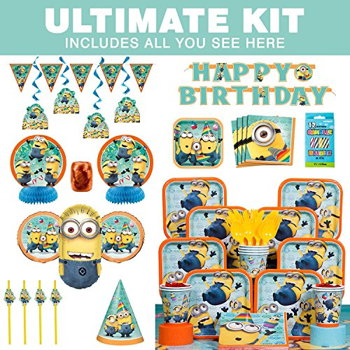 Costume SuperCenter Despicable Me Birthday Party Ultimate Tableware Kit Serves 8