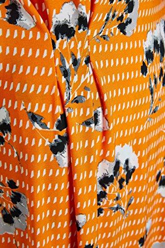 Wickeloptik Kleid Damen Geblümtes next Kurzgröße in Orange x04UfTAwqS