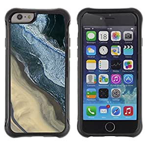 "All-Round Hybrid Rubber Case Hard Cover Protective Accessory Compatible with Apple iPhone 6PLUS ¡ê¡§5.5"") - photography sand beach surf waves"