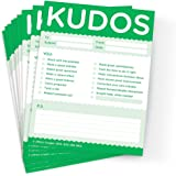 Kudos for Growth & Learning - Set of 10 Green Note Pads For Office & Classroom