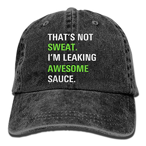 Gorgeously That's Not Sweat I'm Leaking Awesome Sauce Denim Baseball Caps Hat Adjustable Cotton Sport Strap Cap For Men Women (Awesome Beanie)