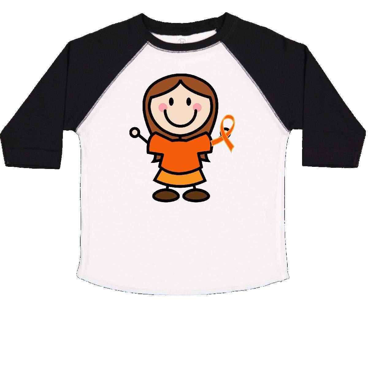 inktastic Orange Ribbon Stick Figure Toddler T-Shirt