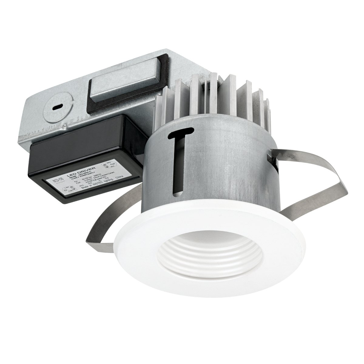 Globe electric 90072 3 inch led integrated ic rated regressed ridged globe electric 90072 3 inch led integrated ic rated regressed ridged baffle recessed lighting kit title 24 compliant white finish baffle recessed light aloadofball Images