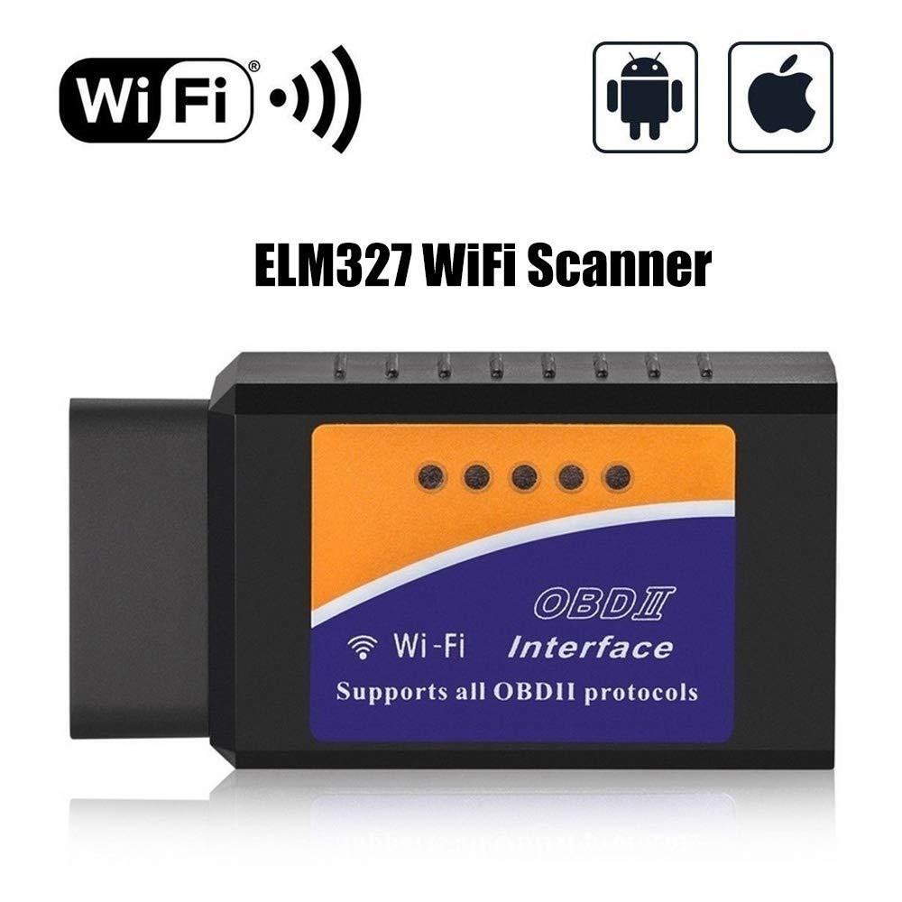 MaxLi ELM327 OBD2 OBDII esc/áner de diagn/óstico de Coche Herramienta de Lector de c/ódigo para iOS y Android OBDII OBD2 ELM327
