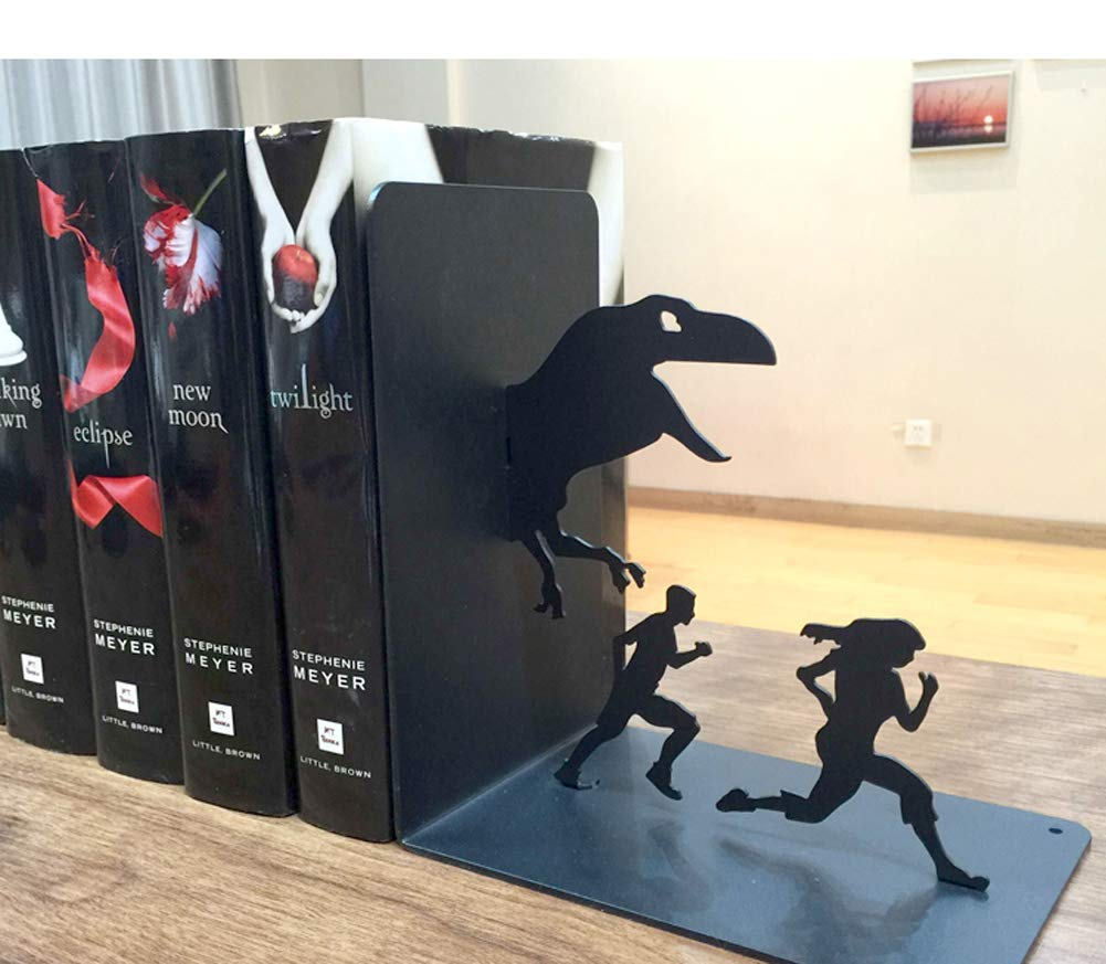 Amazon.com: YOURNELO Creative Jurassic Park Ironwork Nonskid Bookends (A): Office Products