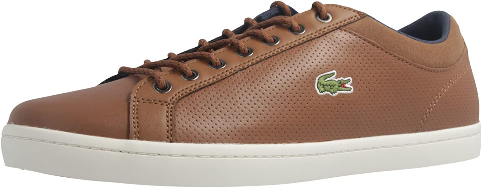 2d44435bf Lacoste Straightset SP 317 1CAM Trainers in Brown 734CAM0063 078  UK ...