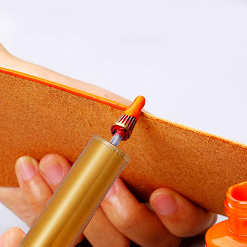 Essential Leather Edge Printing Tool for Leather Craft DIY//Leather Working//Leather Making MIUSIE Convenient Leather Edge Dye Pen-Colorful Edge Roller Applicator
