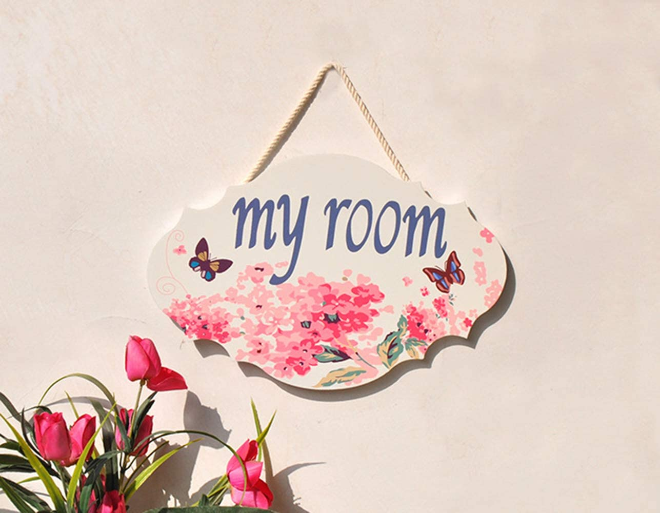 ZOONAI Welcome My Room creativo colgante r/ústico porche familiar bienvenida puerta delantera decoraci/ón del hogar decoraci/ón del hogar Welcome