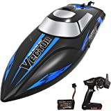 YEZI Remote Control Boat for Pools & Lakes,Udi001 Venom Fast RC Boat for Kids & Adults,Self Righting Remote Controlled Boat W