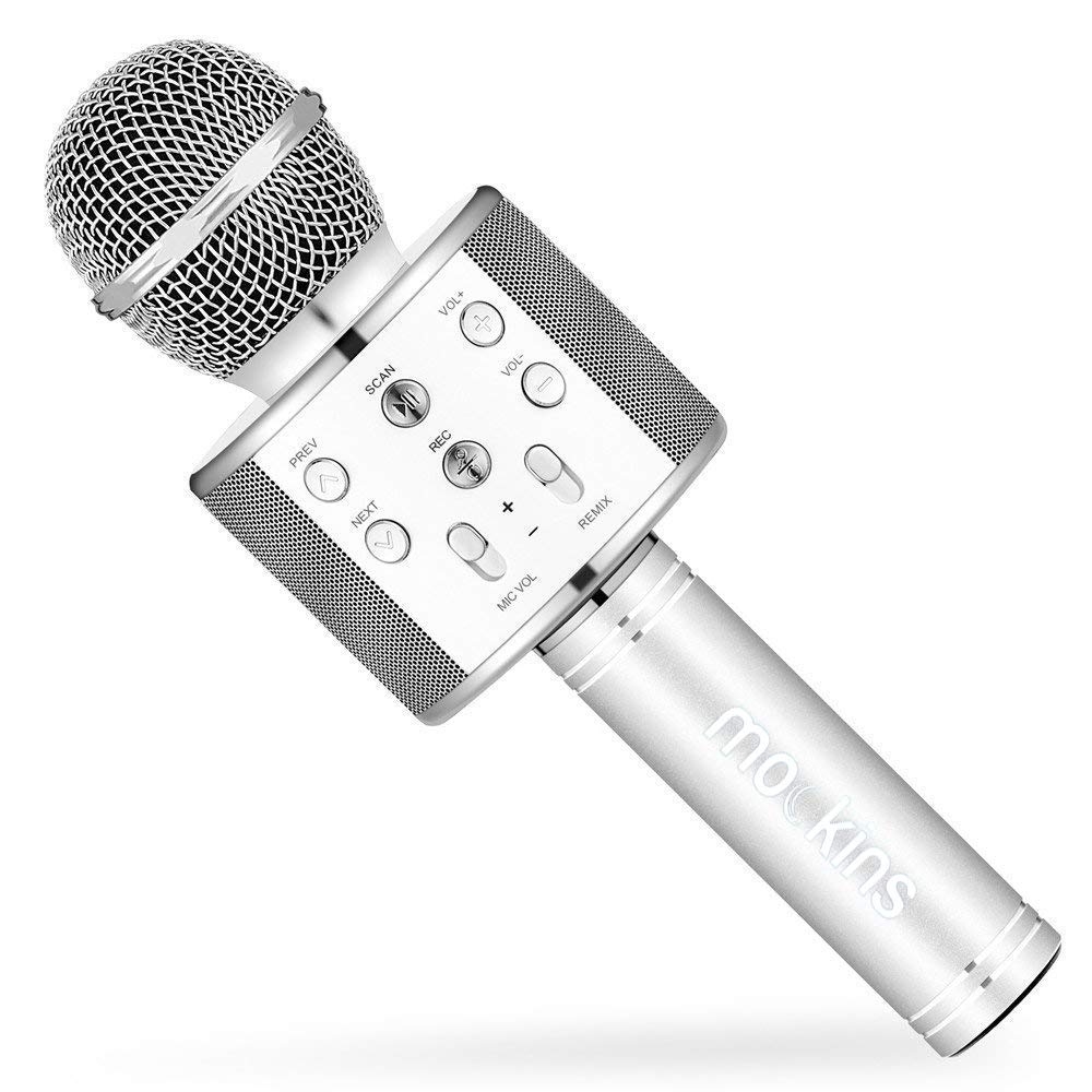 Mockins Premium Wireless Portable Handheld Bluetooth KARAOKE MICROPHONE Compatible with Android & IOS Apple - Silver ... ... ... ... ... by Mockins (Image #9)