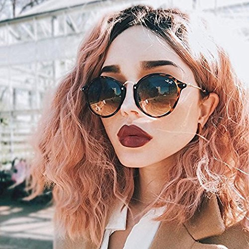 Zenith Vibrant Pink World - Glueless Ombre Pink Short Wigs for Girls Wavy Hair Ombre Pink Bob Wigs with Dark Roots Synthetic Hair Pink Wavy Lace Front Wigs Classic Pink Hair Short Bob Wigs