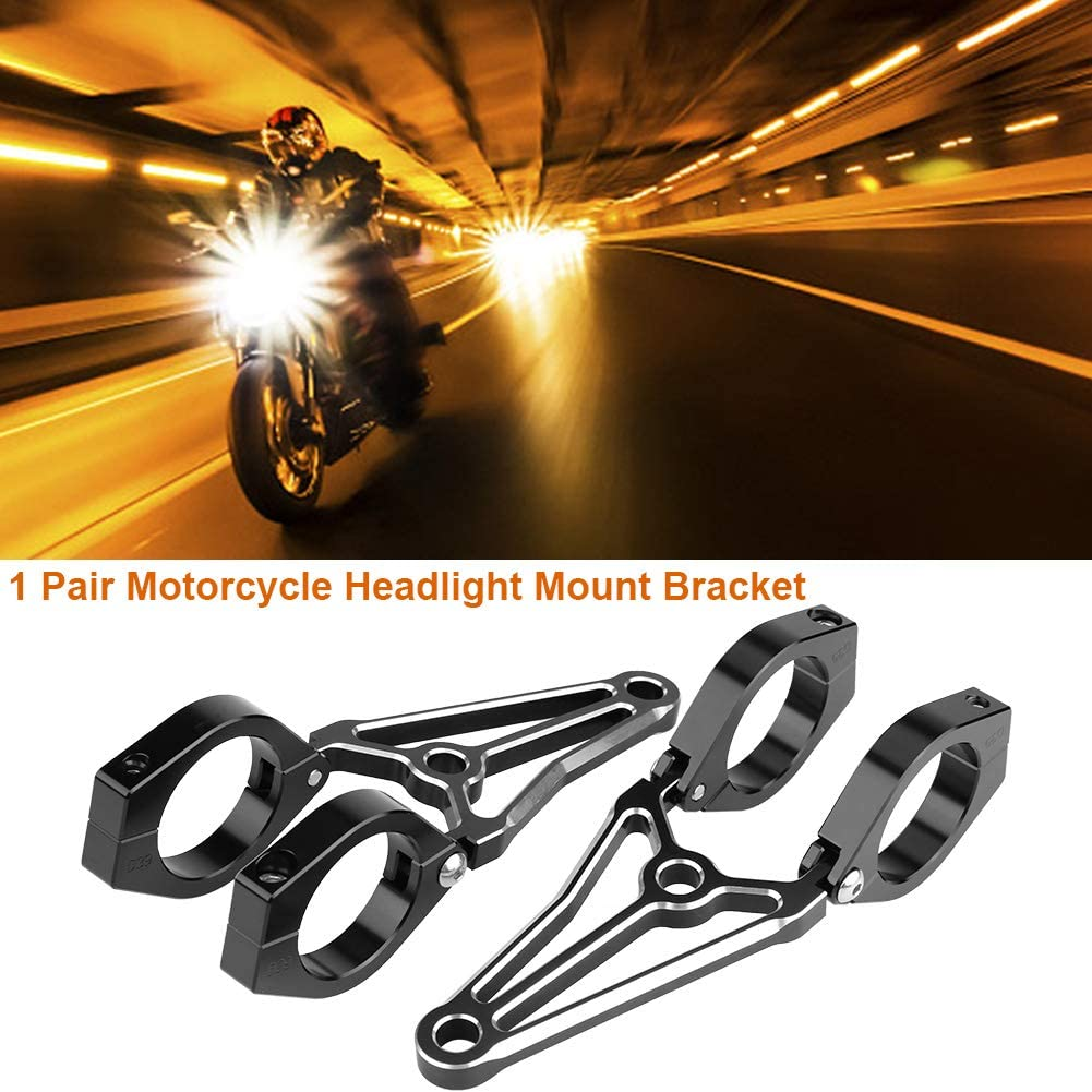 41mm 2Pcs Headlight Mount Bracket Fit fork Head Lamp Holder Fit for Cafe Racer Motorcycle Motorbike