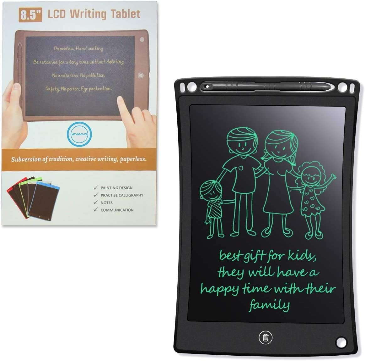 LCD Writing Tablet Doodle Board Color : Green Electronic Drawing /& Writing Board with Smart Writing Stylus School,Office Fridge Or Family Memo for Kids Gifts