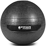 Titan Fitness 10 - 60 lb Slam Spike Ball Rubber Exercise Weight Crossfit Workout