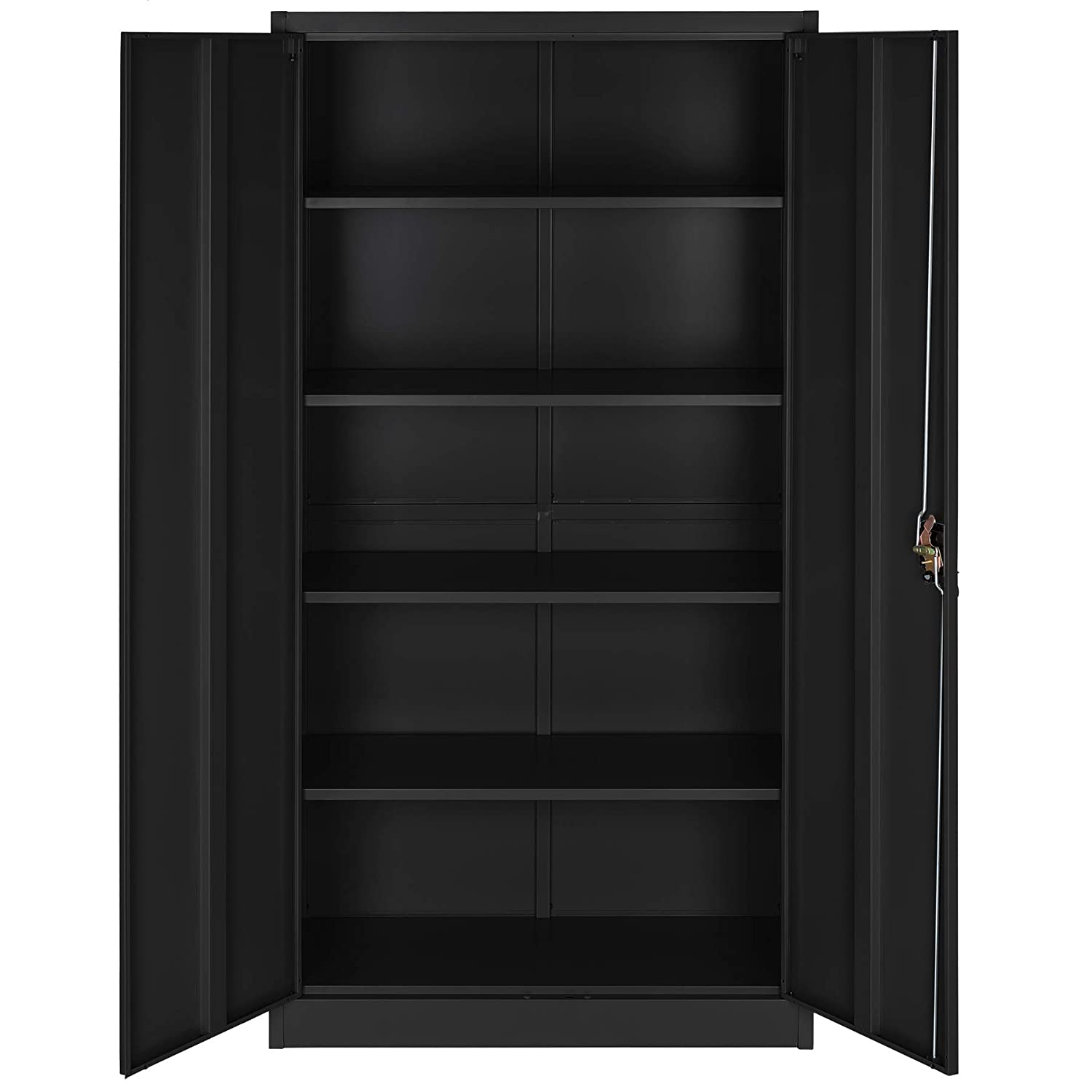 Filing cabinet black Type 2 | No. 402938 Different Models TecTake 800598 Shelves 2-door and Lock system