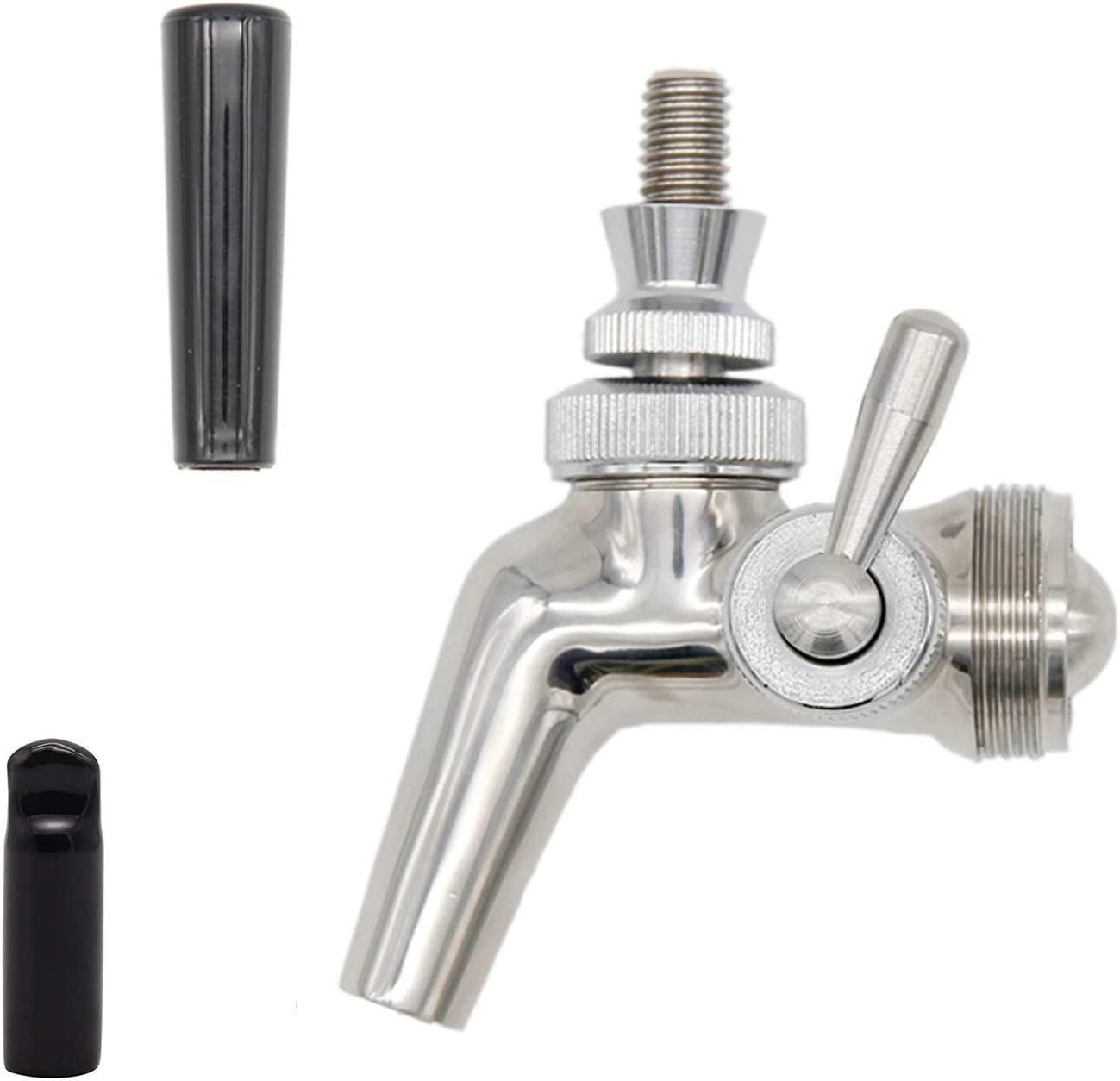Beer Flow Control Faucet,Homebrew Beer Craft Tap,Forward Sealing (P Flow Control Stainless Steel Faucet)