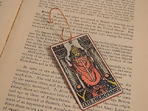 Amazon.com: Tarot ornament Tarot card The Hierophant Holiday Decor