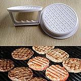 Diy White Plastic Hamburger Meat Beef Grill Burger Press Patty Maker Mold