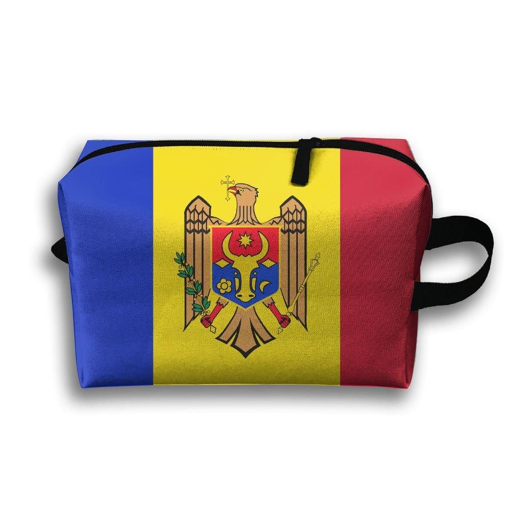 Leisue Moldova Flag Cosmetic Bag Zipper Makeup Accessories